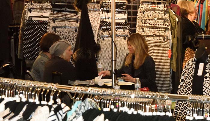 Apparel and accessories reps meet with retail buyers at each fashion exhibition