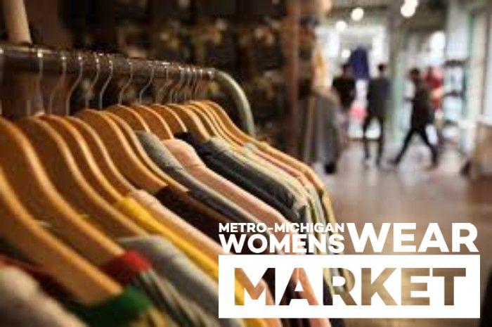 2019 image - rack of clothing + Metro-Michigan Womens Wear Market